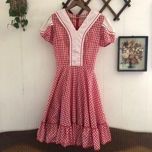 Vintage Prairie Picnic Dress